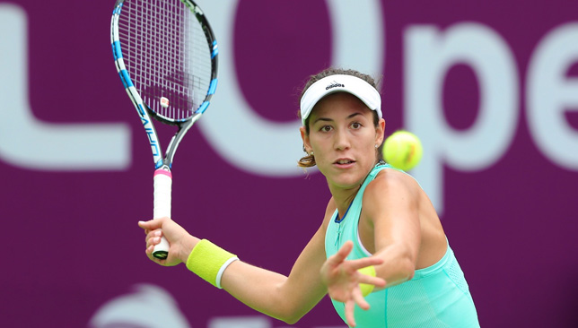 Mixed day: For Muguruza (Credit: Samer Alrejjal/QTF)
