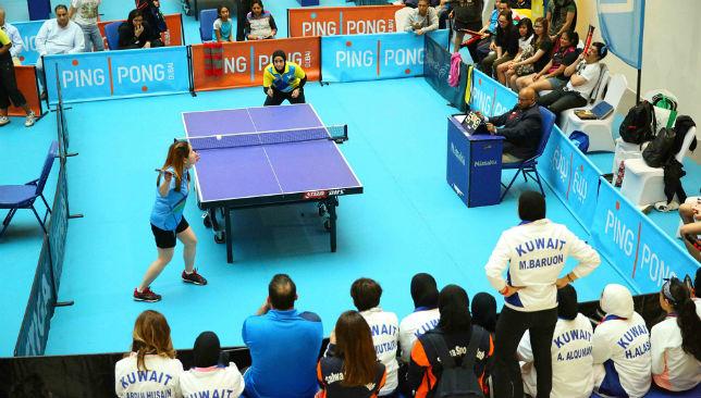 Table Tennis action underway
