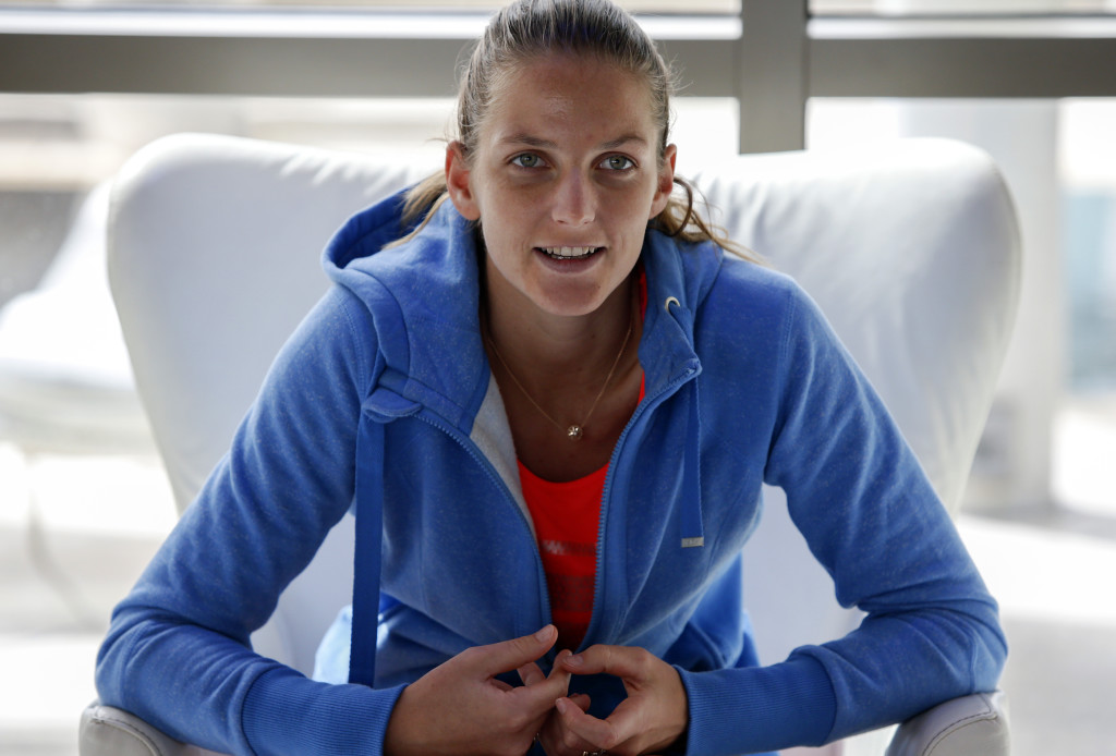 Focused: Karolina Pliskova (Credit: Chris Whiteoak)