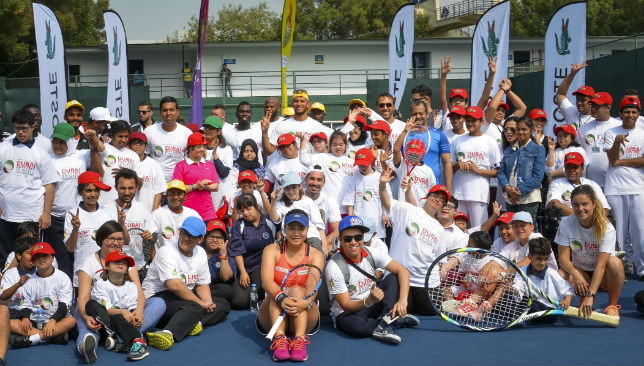WTA player Chan Yung-Jan at The Lacoste Special Needs Clinic