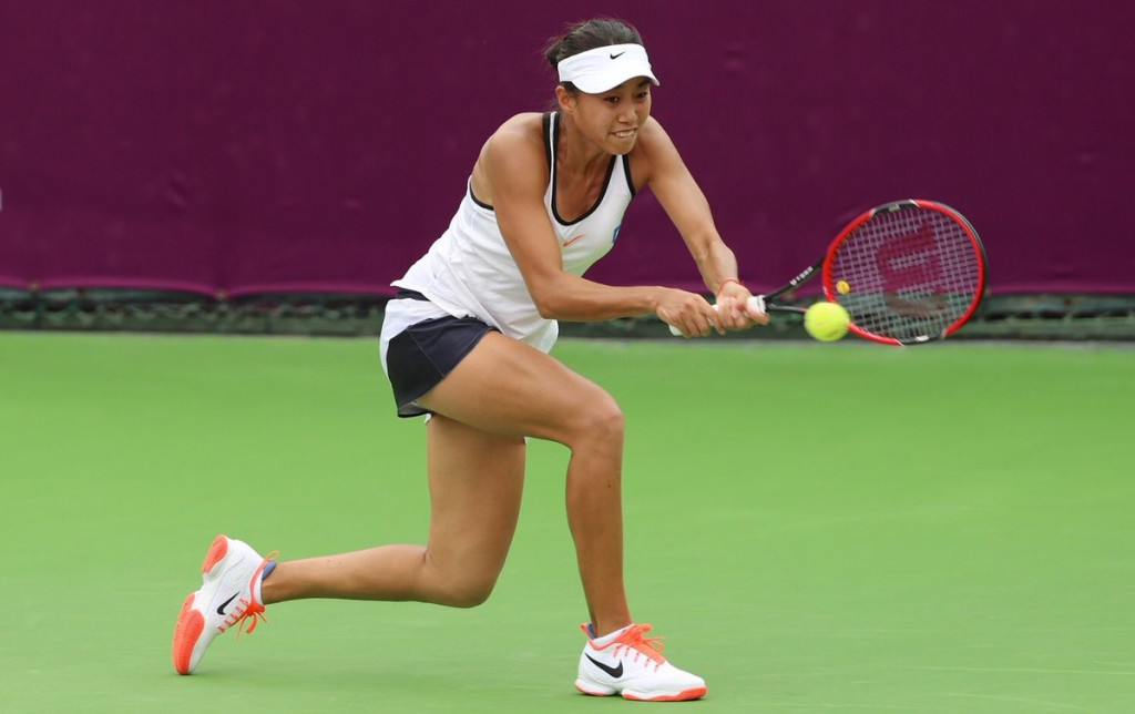Hero of the day: Zhang Shuai (Credit: Samer Alrejjal/QTF)