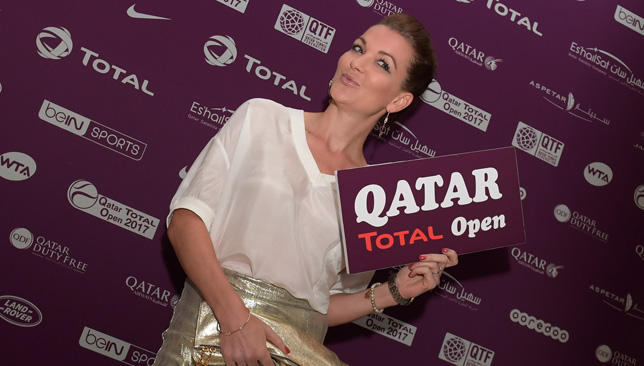 Radwanska at the gala dinner in Doha on Monday.