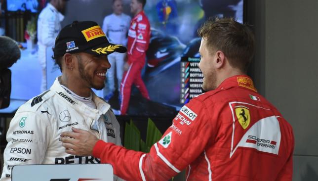 Hamilton and Vettel.