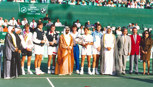 Karel Novacek and Fabrice Santoro were the first DDF finalists in 1993 (Photo via DDF Tennis)