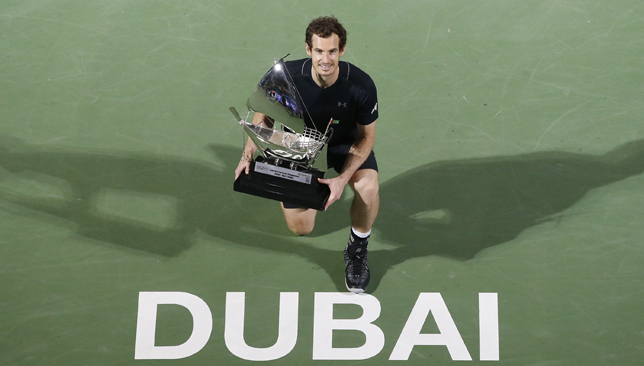Murray is the first Brit to win the Dubai crown.
