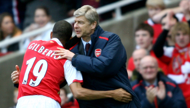 Gilberto Silva played for Arsene Wenger for six years