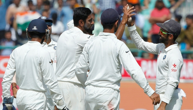 Ashwin celebrates after taking the wicket of Smith [Sportzpics]