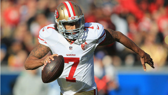 Colin Kaepernick has not played since leaving the 49ers in 2016.