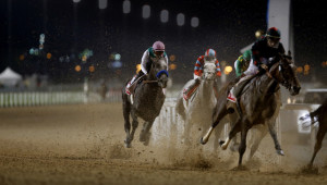 Arrogate begins his remarkable run from the back of the field to World Cup glory.