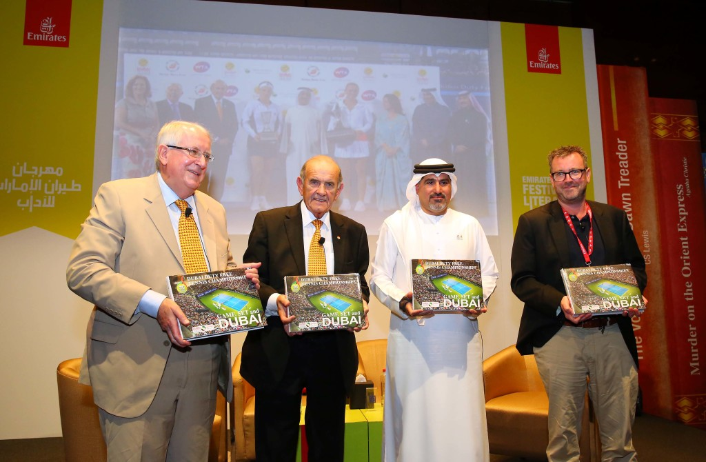 DDF chiefs unveil the book at the Emirates Airline Festival of Literature.