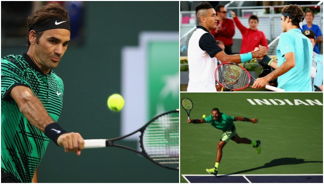 Federer and Kyrgios are set to clash for the second time.
