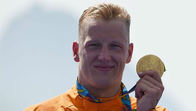Ferry Weertman with his Gold medal.