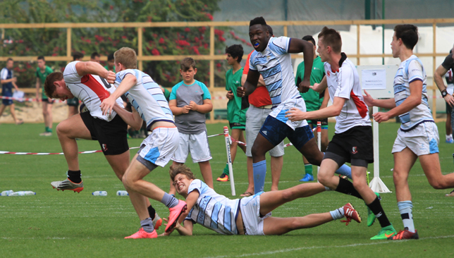 Going for the try: DESC in their U-19 clash