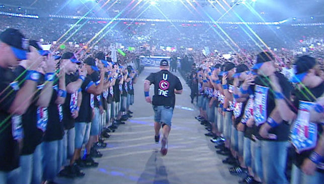 John Cena made a memorable WrestleMania entrance.