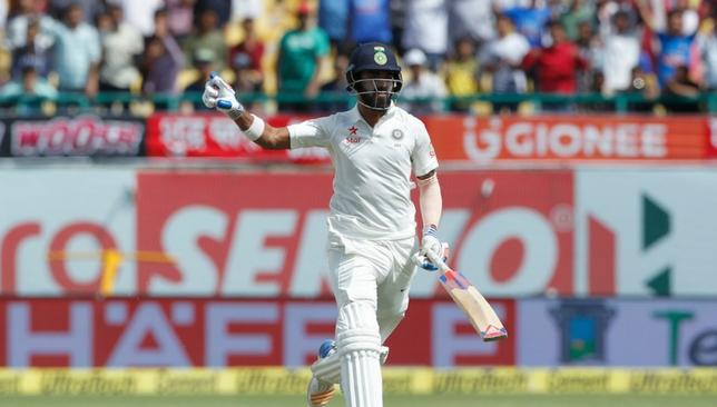 Rahul celebrates after hitting the winning runs [Sportzpics]