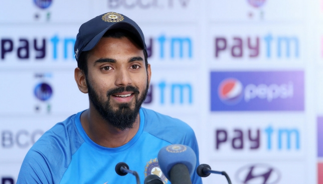 Rahul speaking in the press conference [Sportzpics]