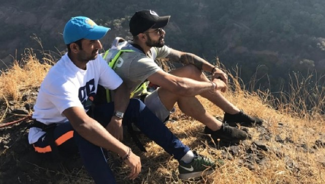 Pujara and Kohli during a recent team activity [Instagram - virat.kohli]