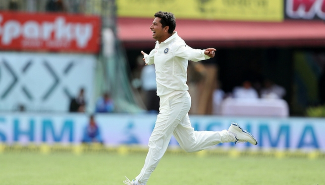 Kuldeep had a memorable first day in Test cricket [Sportzpics]