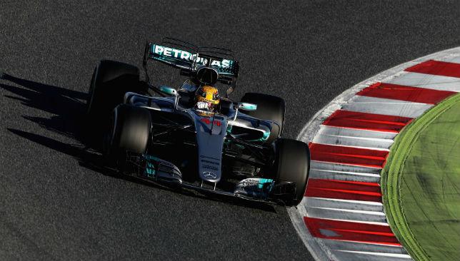 Lewis Hamilton in his Mercedes-AMG W08