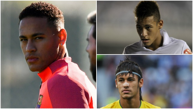 The Changing Faces And Hairstyles Of Neymar Barcelona And Brazilian