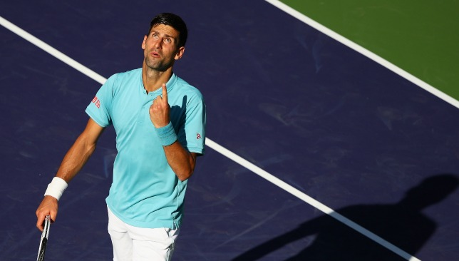 Tough time: Djokovic.