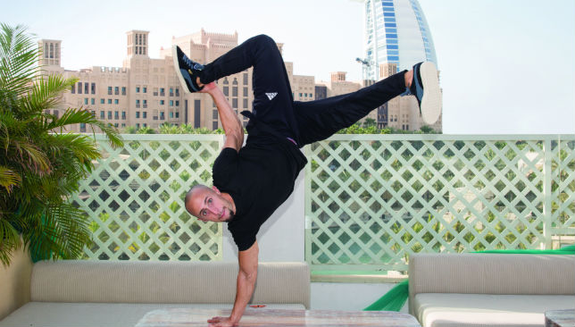 B-boy stance: Frenchman Nabil El Khayer is as fit as he is flexible.
