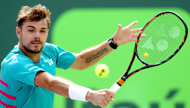 Stan's the Man in Miami: Wawrinka is the top seed in Key Biscayne.