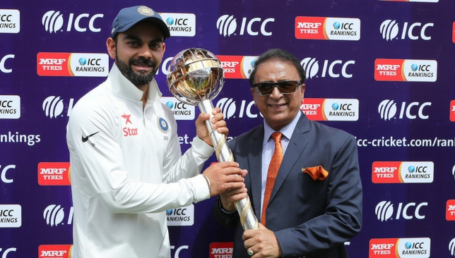 Sunil Gavaskar (right) has been impressed with Virat Kohli's form in England so far