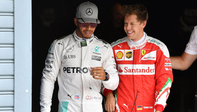 Hamilton and Vettel are fiercely competitive rivals.