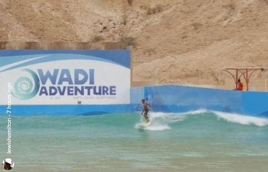 Hamilton at Wadi Adventure Park in Al Ain.