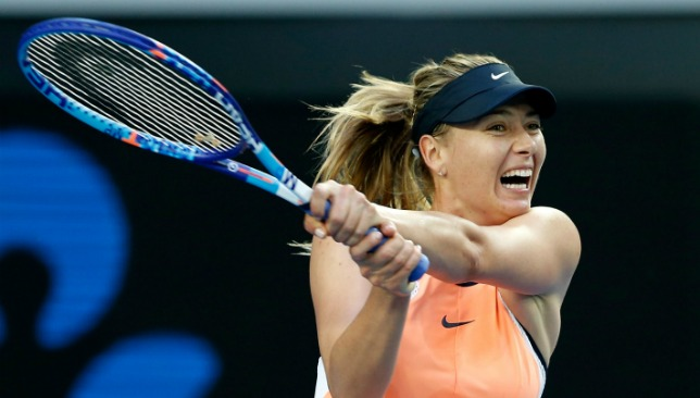 Sharapova is due to return in May.