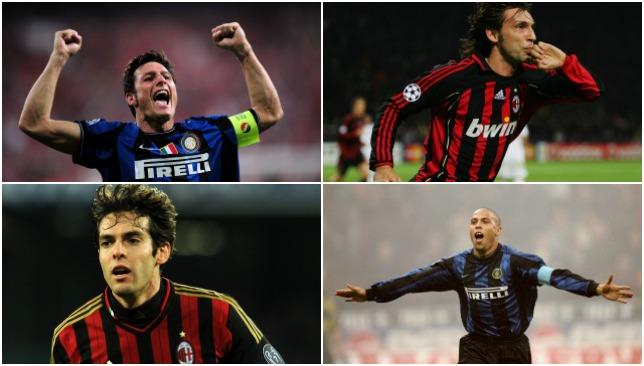 Star quartet: Zanetti, Pirlo, Kaka and Ronaldo.