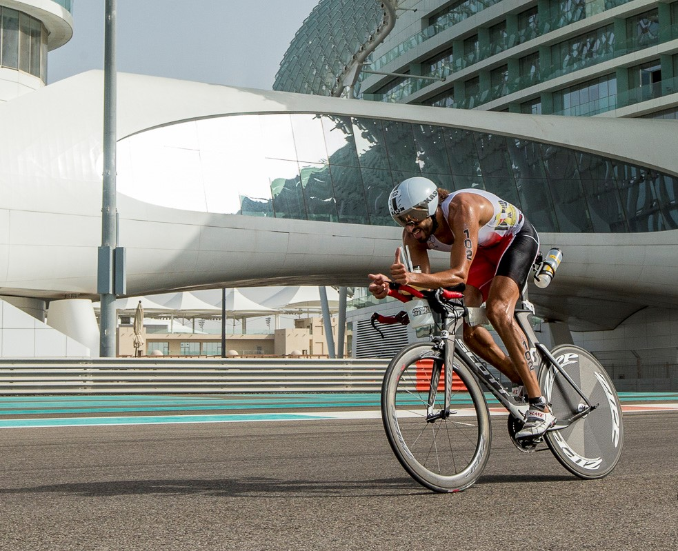 Omar Nour during the Abu Dhabi International Triathlon.