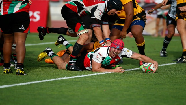 Kent Watene stretches out to score the sudden death try against Amblers