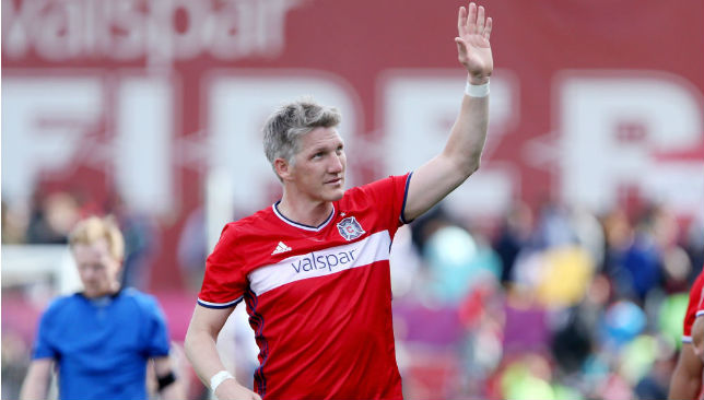 Enjoying a dream start to his MLS campaign: Schweinsteiger.