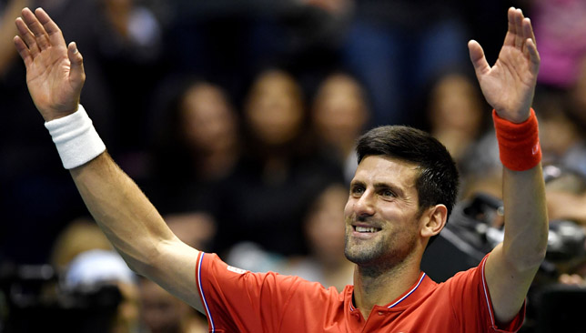 Home hero: Novak Djokovic.