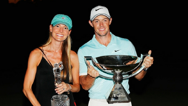 Hitched: McIlroy's marriage to Erica Stoll was kept under wraps.