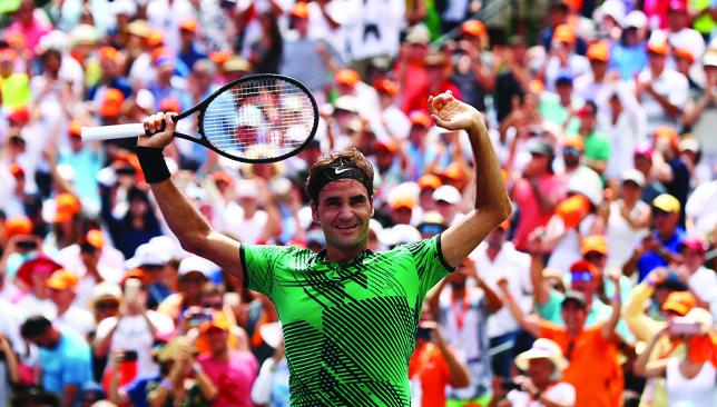Flabbergasting: Federer.