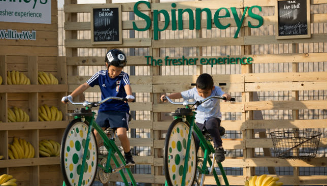 Fun and games in the Spinneys Dubai 92 cycle village