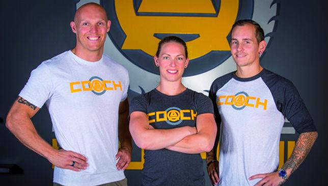 Squad goals: Carsten Juul (l), Kathrine Rasmussen (c) and Jesse Barker (r).
