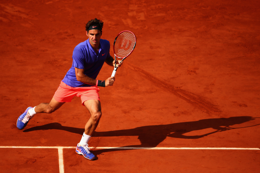 Out of clay practice: Roger Federer.
