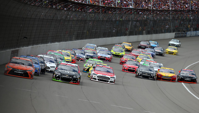 Action from the NASCAR Sprint Cup Series Quicken Loans 400.