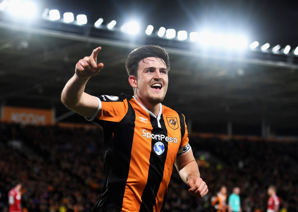 Harry Maguire starred for Hull in the Premier League.