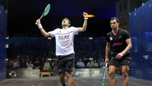 Karim Abdel Gawad (L) (photo credit: PSA World Tour)