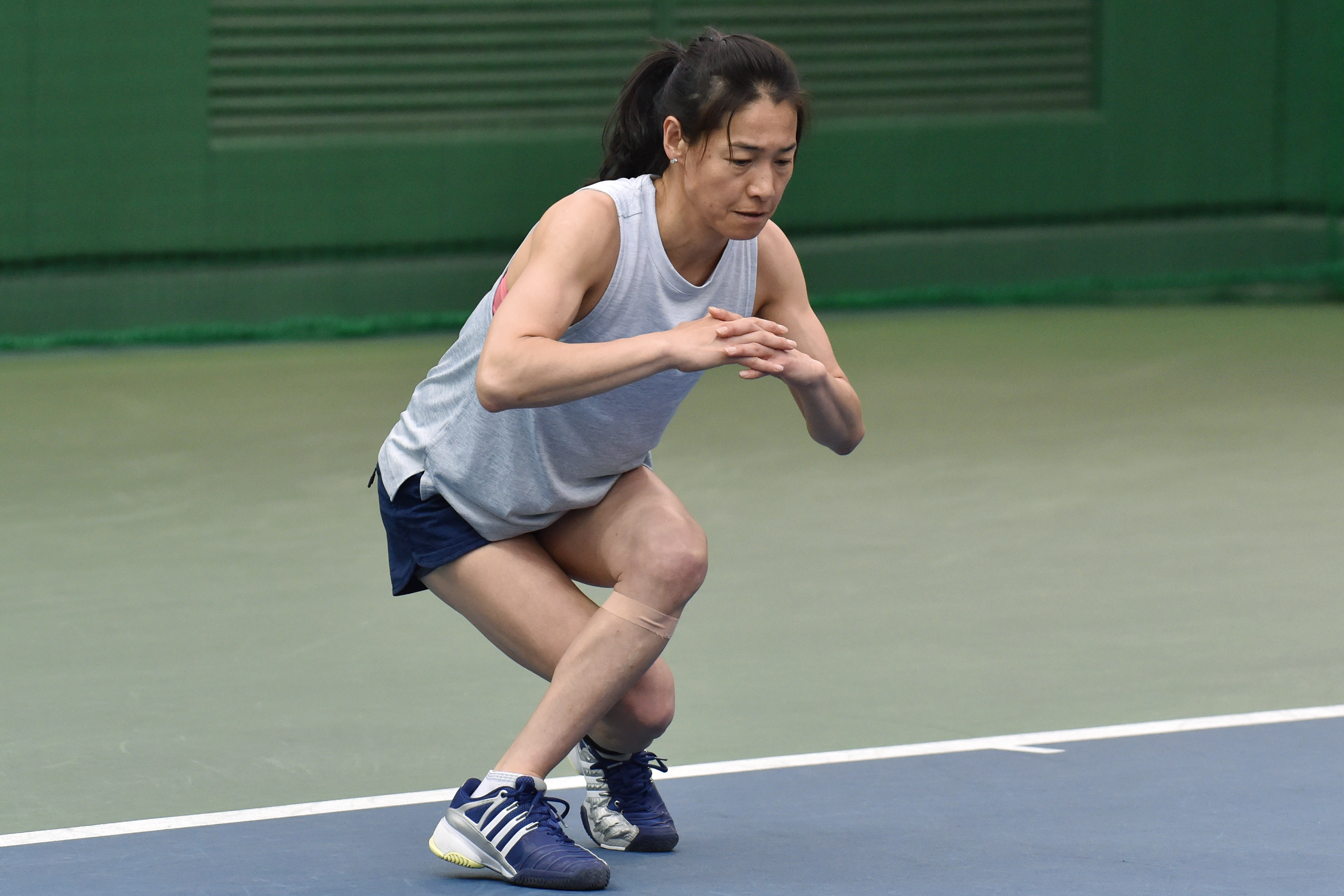 Ageless: Kimiko Date training in Tokyo on March 31, 2017.