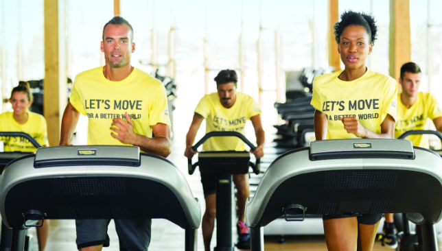 Sweating it out for a cause: People at 28 facilities in the Emirates contributed.