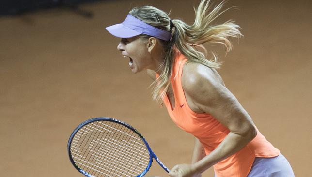 Here her roar: Maria Sharapova.