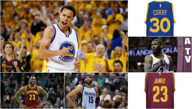 94d4f9accfb1 Top 10 most popular NBA jerseys  Stephen Curry the best seller for a ...
