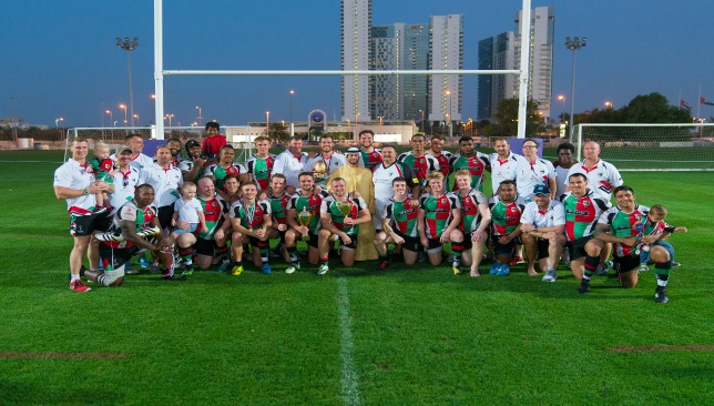 Quins celebrate claiming the West Asia Cup
