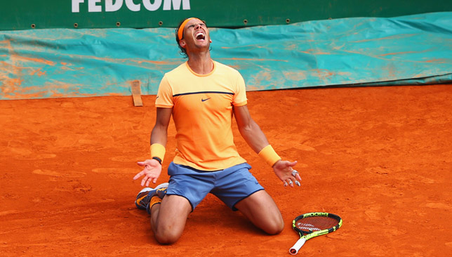 Nadal after winning a ninth Monte Carlo title last year.
